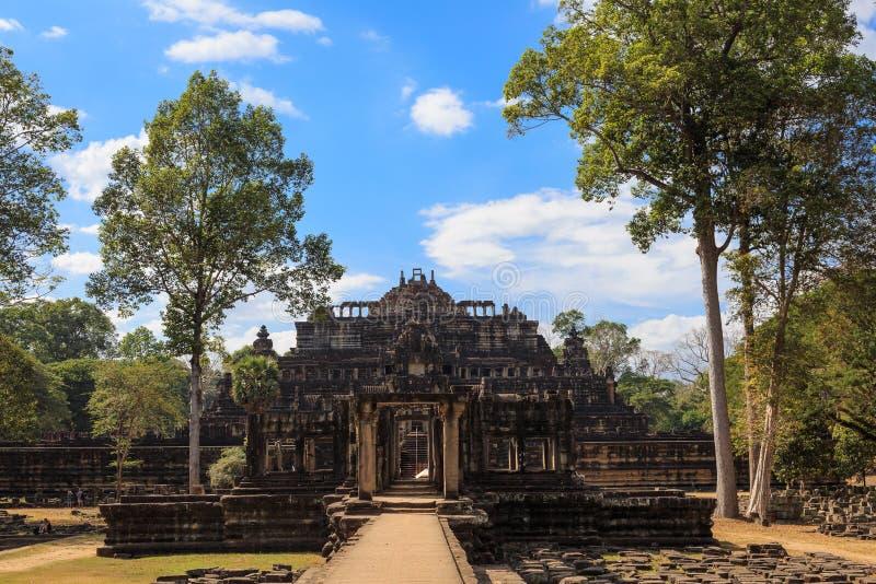 Bapuontempel in Angkor Thom City stock afbeeldingen