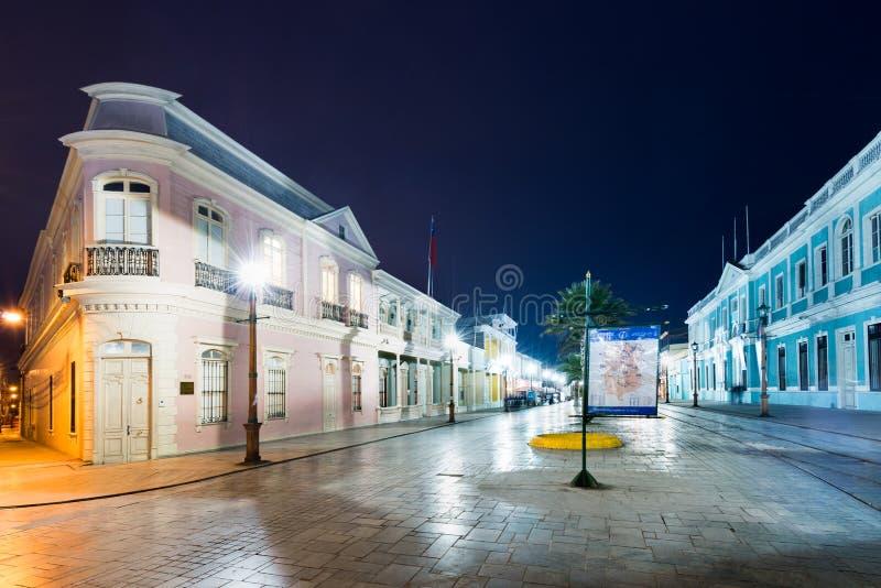 Baquedano-Boulevard in Iquique stockfoto