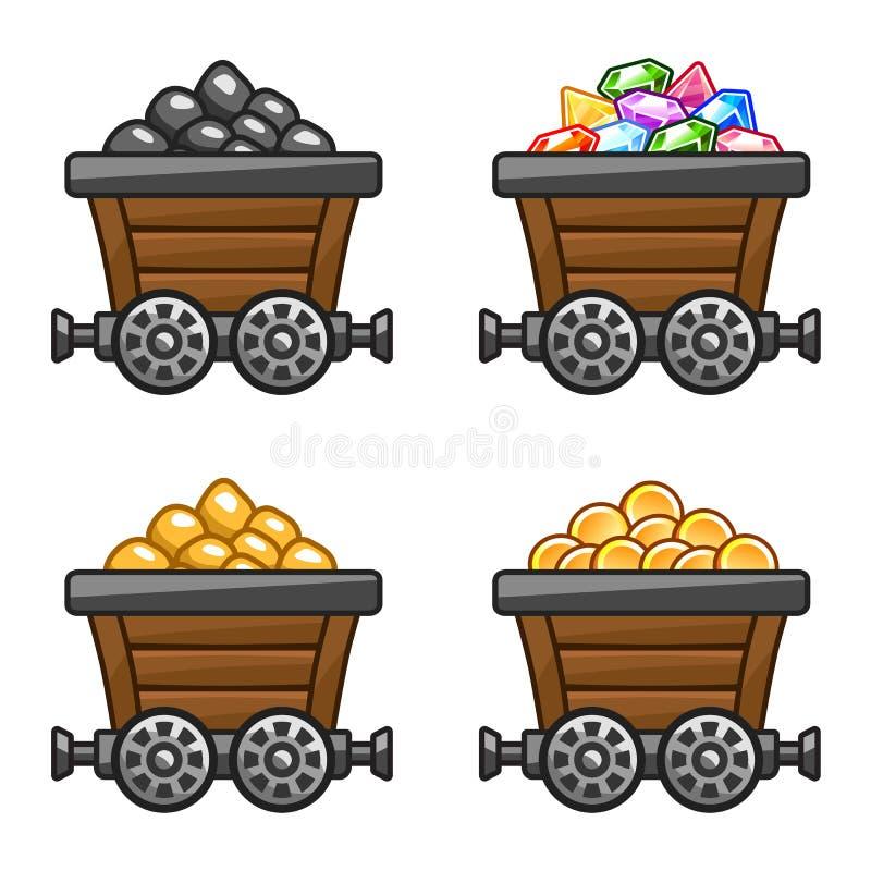 Baquets illustration de vecteur