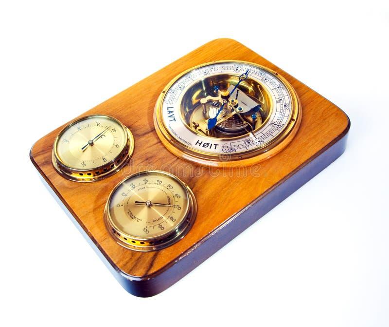 Barómetro velho imagem de stock