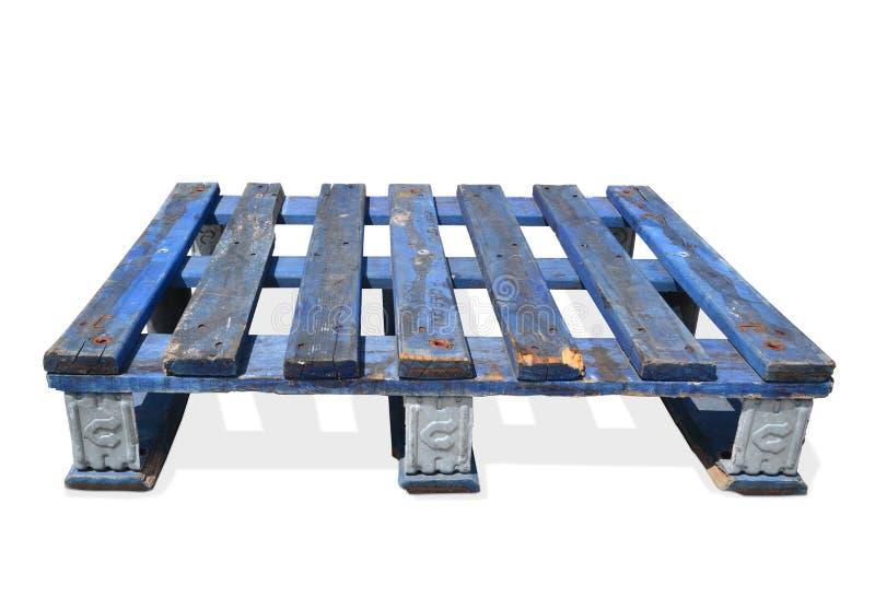 Barłóg desek drewniane stare błękitne łodzie przechują transport obraz royalty free