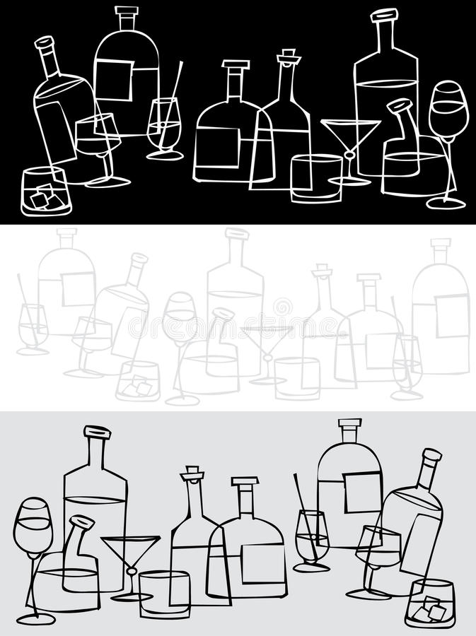 Download Bar stock vector. Image of lunch, beer, tequila, bourbon - 14182665