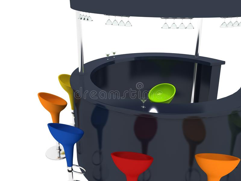 Download Bar stock illustration. Image of object, glass, isolated - 14359361