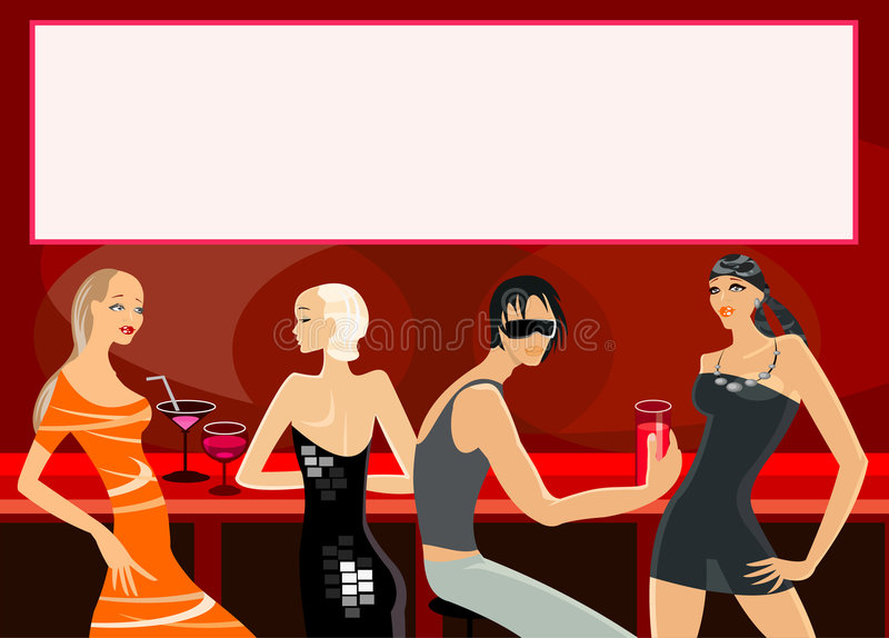 Bar illustration stock