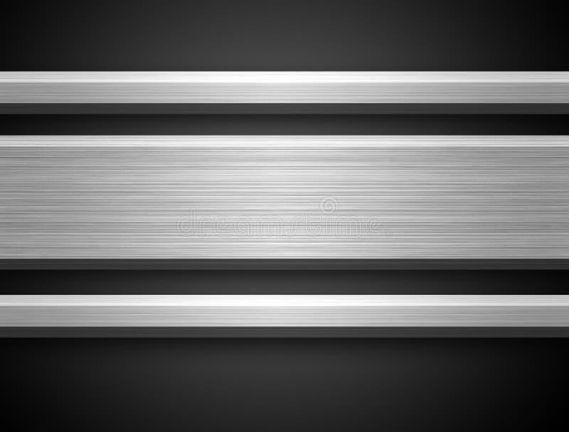 Bar argenté en aluminium illustration stock