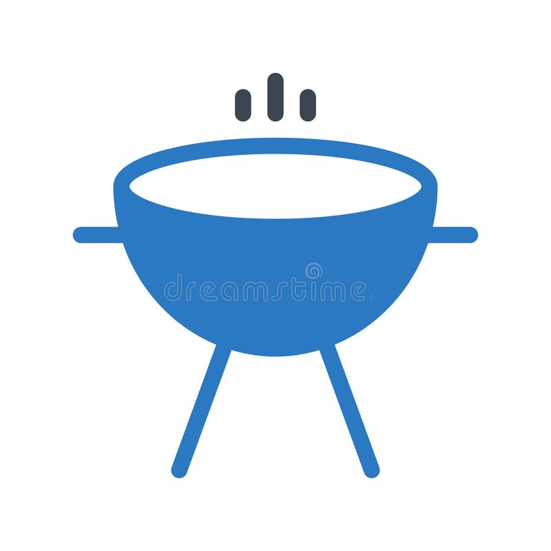 Bar be que glyph color vector icon. Bar be que vector icon. Elements for mobile concept and web apps. Thin line icons for website design and development, app stock illustration