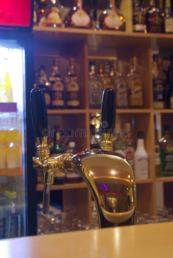 Download Bar with beer tap stock image. Image of night, illuminated - 3528017