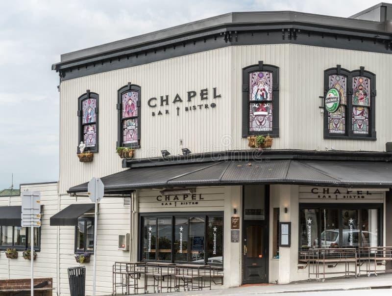 Bar Bistro Chapel in Ponsonby Road, Auckland. stock photos