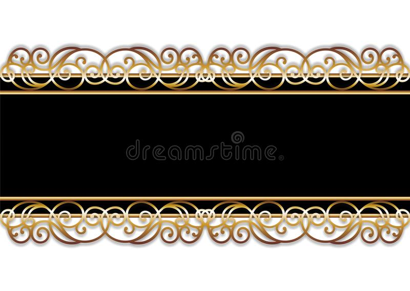 Bar in black and gold stock image