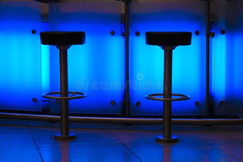 Bar bleu images libres de droits