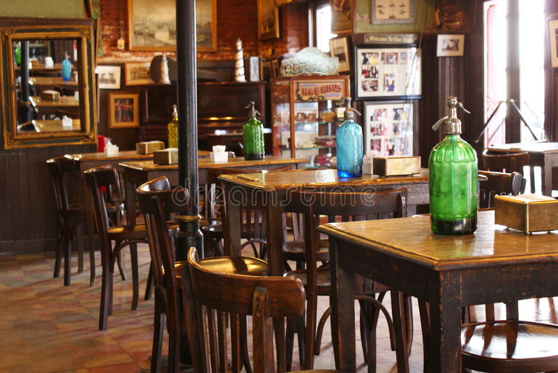 Bar Cafe in Argentina. Empty tourist cafe in Buenos Aires, Argentina royalty free stock photography