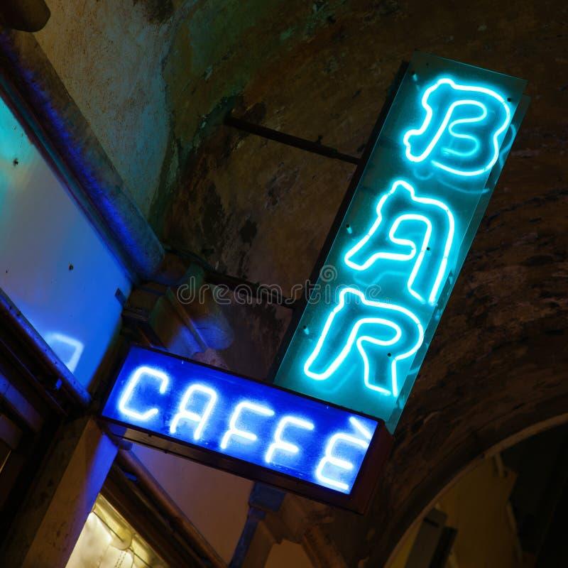 Bar Caffe royalty-vrije stock afbeeldingen