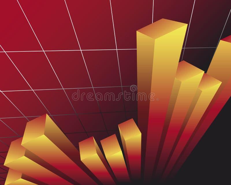 Bar chart. Illustration of a bar chart with sales development stock illustration