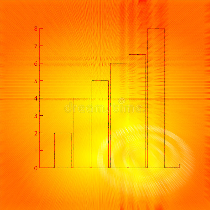 Bar chart stock illustration
