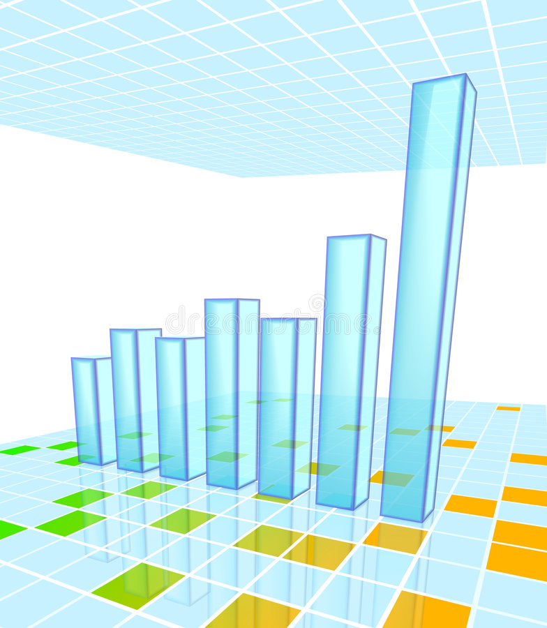 Download Bar Chart stock vector. Image of chart, future, economy - 3761568