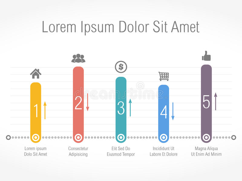 Bar Chart. Abstract bar chart design template stock illustration