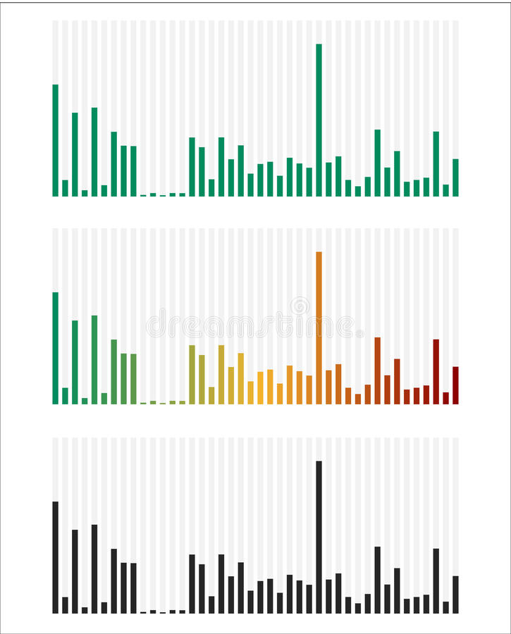 Bar chart, bar graph interface element with low and high levels. royalty free illustration
