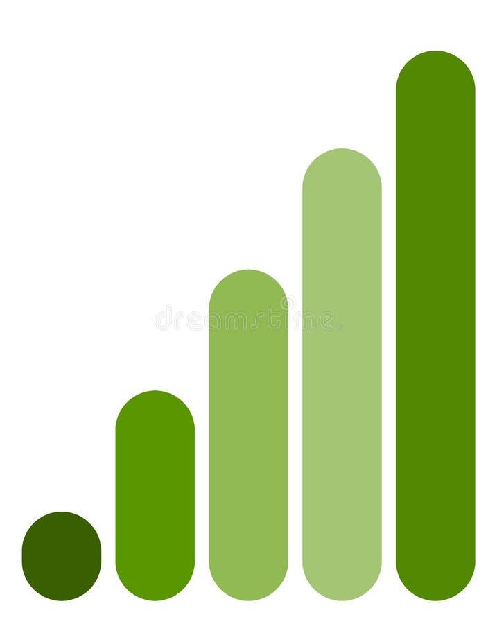 Bar chart / bar graph symbol. Rounded rectangle chart vector illustration