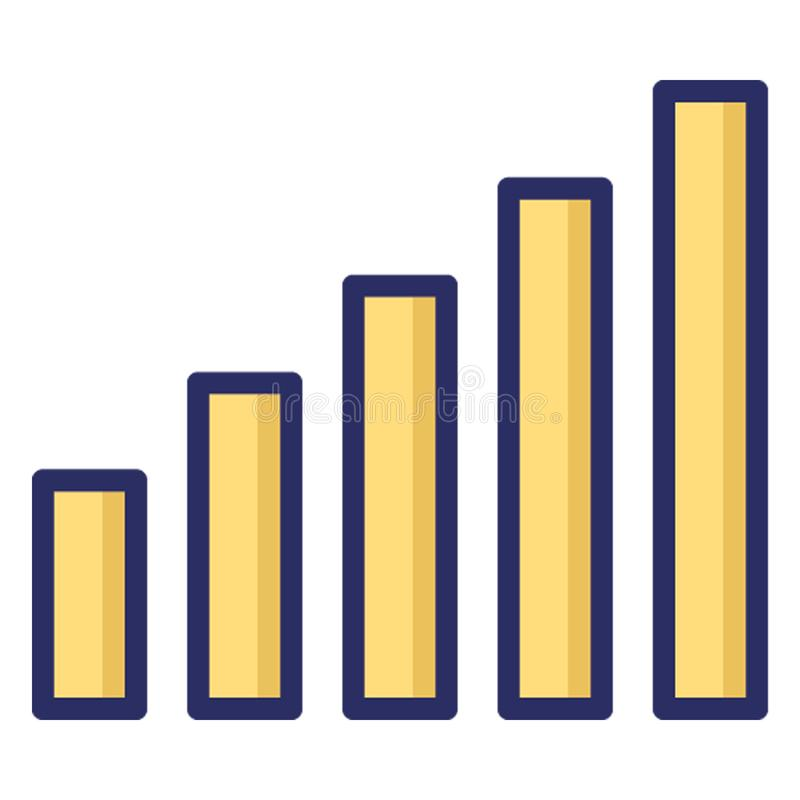 Bar chart, bars isolated Vector Icon which can easily modify or edit stock illustration