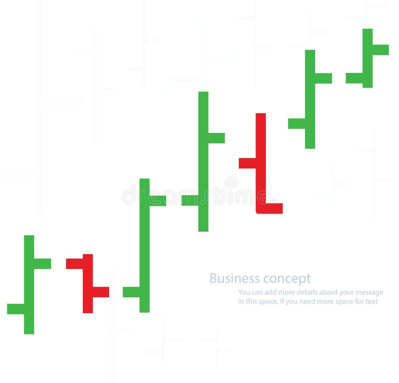 Bar chart graph background, concept of stock exchange vector illustration.  royalty free illustration