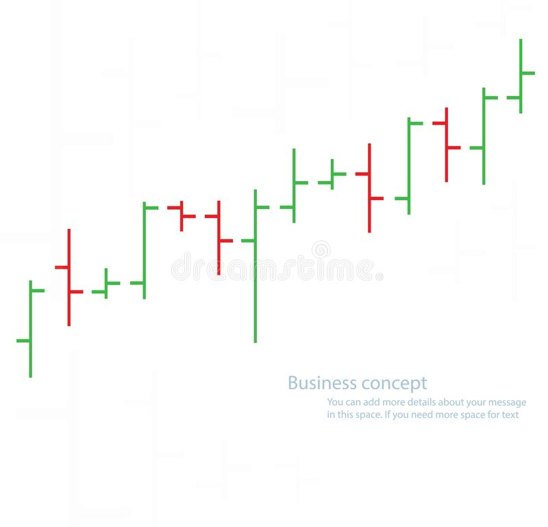 Bar chart graph background, concept of stock exchange vector illustration.  stock illustration