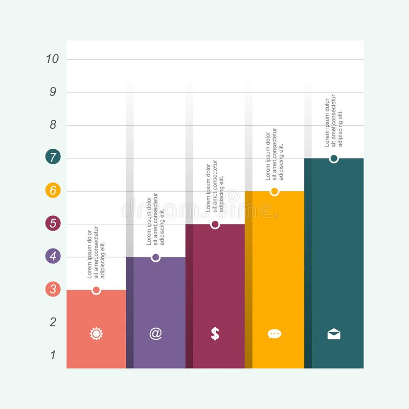 Bar Chart Graph Diagram Statistical Business Infographic Illustration.  stock illustration