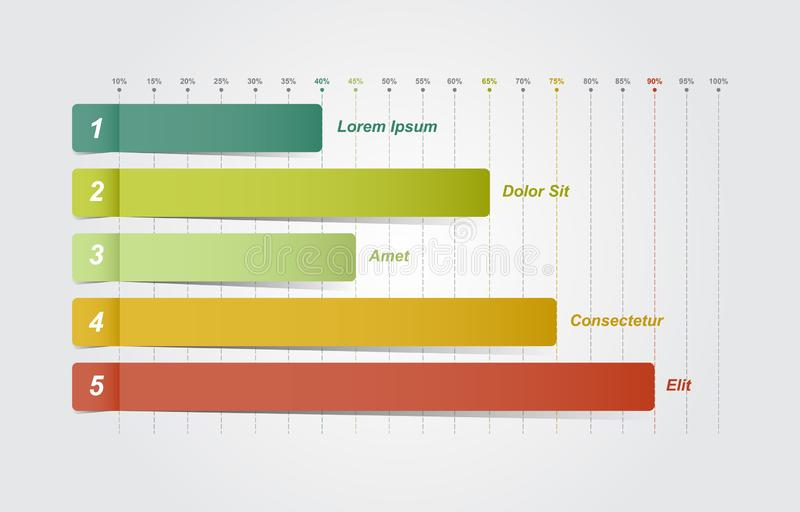 Bar Chart Graph Diagram Statistical Business Infographic Illustration.  vector illustration