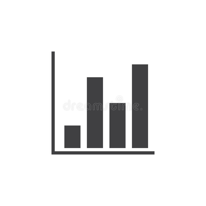 Bar chart icon , solid logo illustration, pictogram isolat stock illustration
