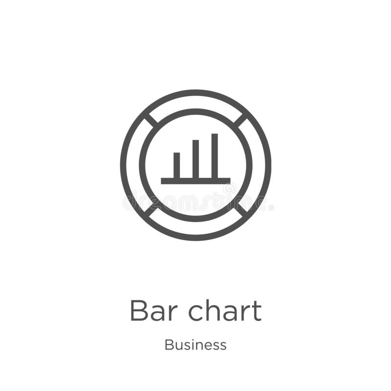 bar chart icon vector from business collection. Thin line bar chart outline icon vector illustration. Outline, thin line bar chart stock illustration