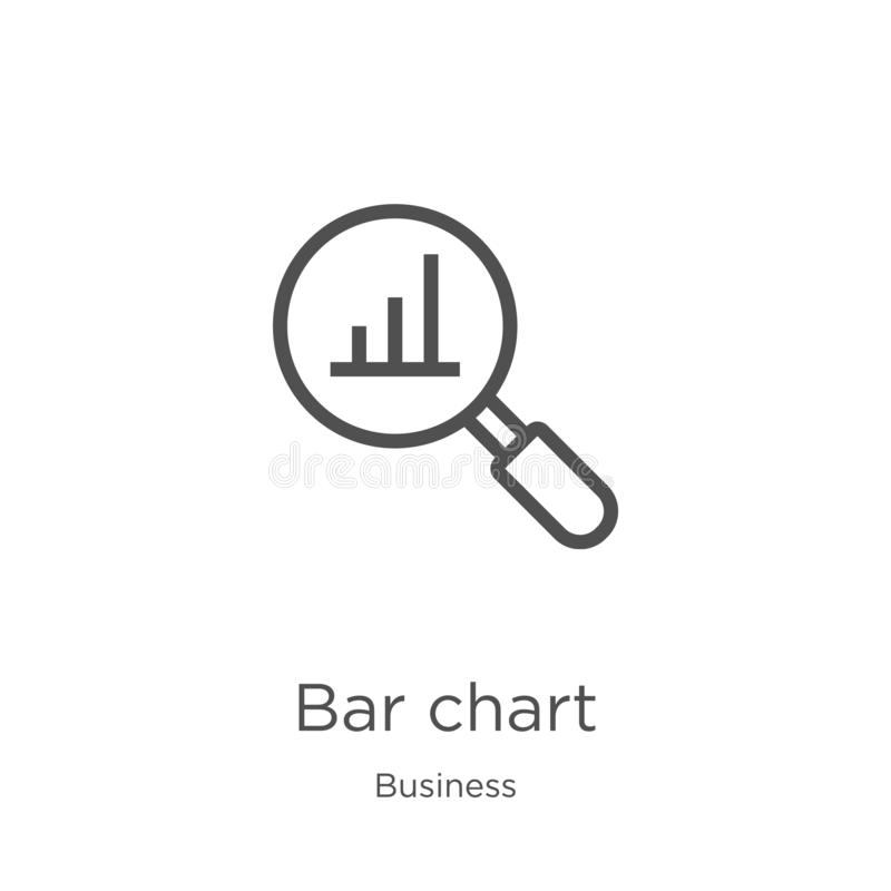 Bar chart icon vector from business collection. Thin line bar chart outline icon vector illustration. Outline, thin line bar chart. Bar chart icon. Element of stock illustration