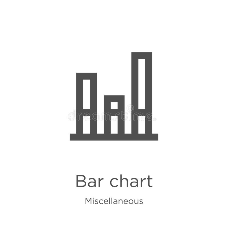 bar chart icon vector from miscellaneous collection. Thin line bar chart outline icon vector illustration. Outline, thin line bar vector illustration