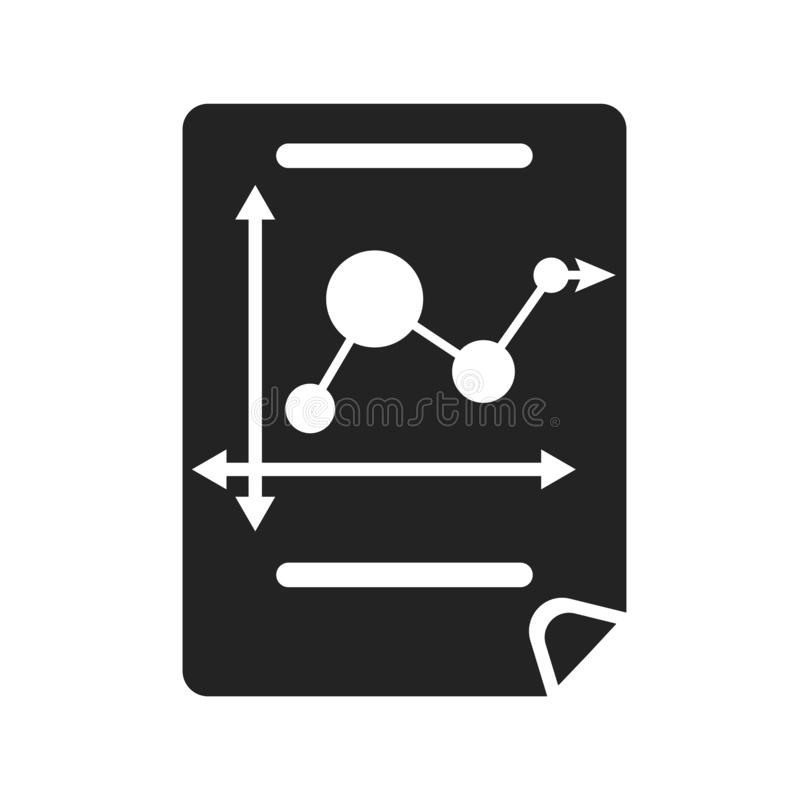 Bar chart icon vector sign and symbol isolated on white background, Bar chart logo concept stock image
