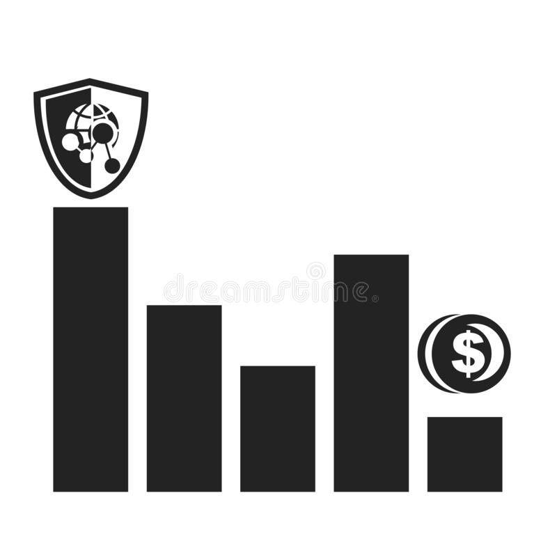Bar chart icon vector sign and symbol isolated on white background, Bar chart logo concept royalty free stock image