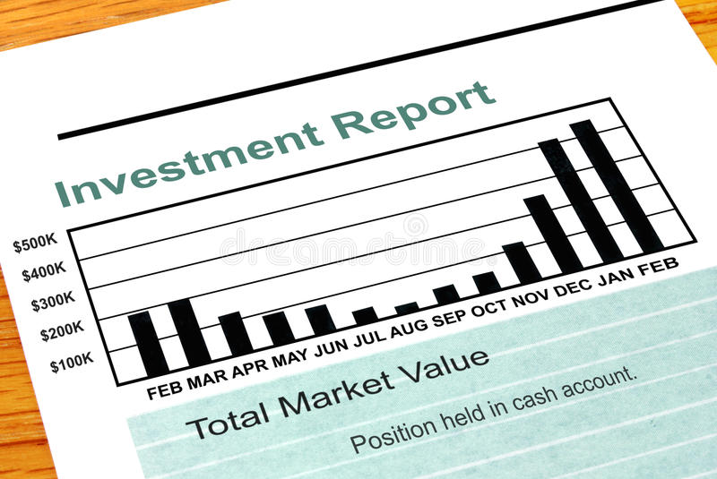 Download Bar Chart Investment Report Stock Photo - Image: 23408046