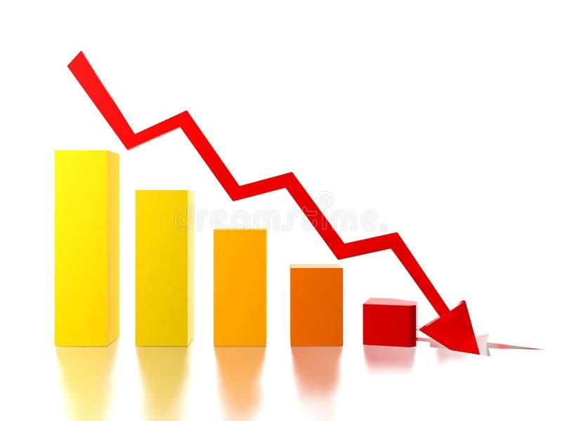 Bar chart stock illustration