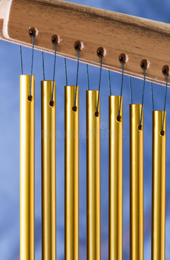 Download Bar Chimes On A Blue Background Stock Images - Image: 14414064