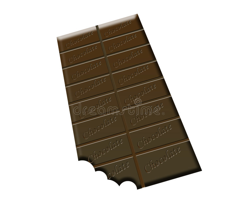 Download A Bar Of Chocolate stock illustration. Image of close, indulgence - 546812