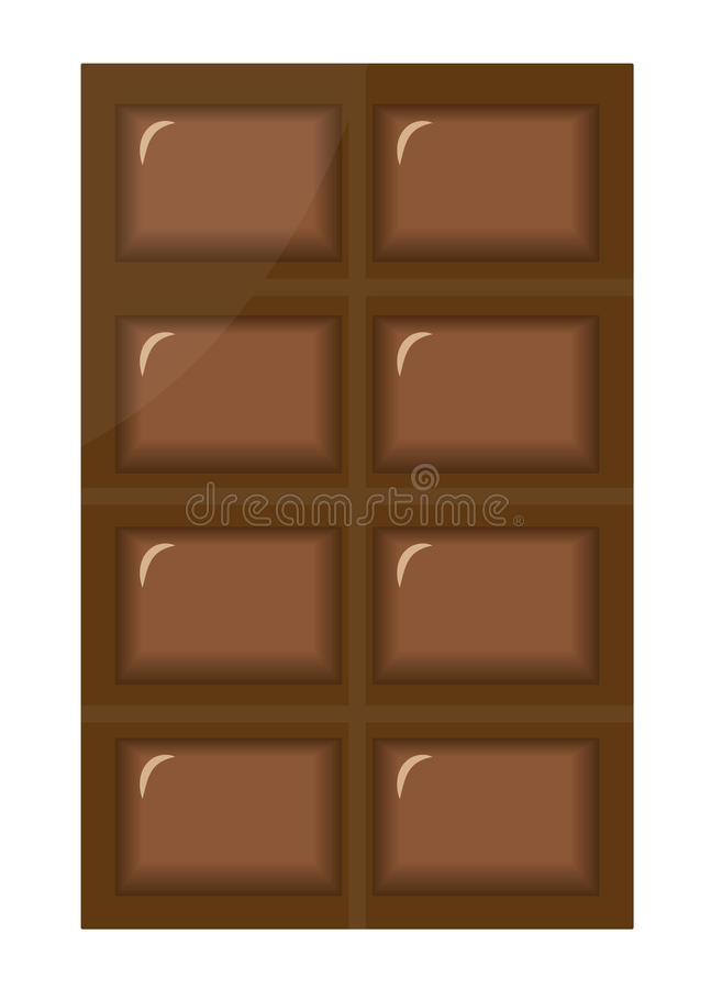 Bar of chocolate on white background vector illustration vector illustration