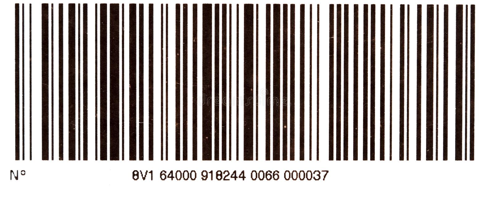 Bar code. Black bar code isolated on a white background royalty free stock image