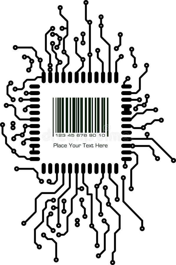bar code with border frame in pcb