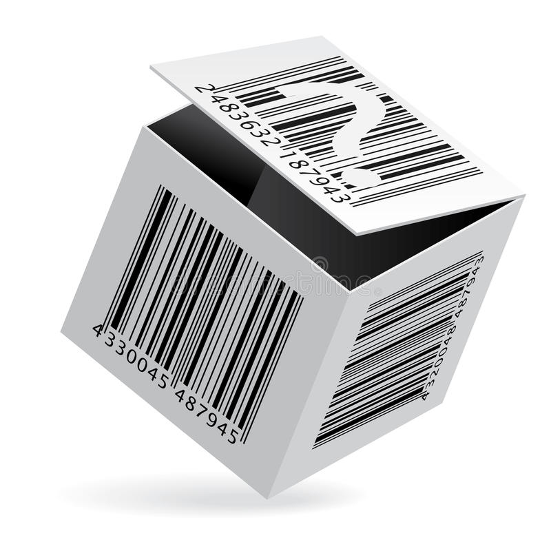Bar code on box royalty free illustration