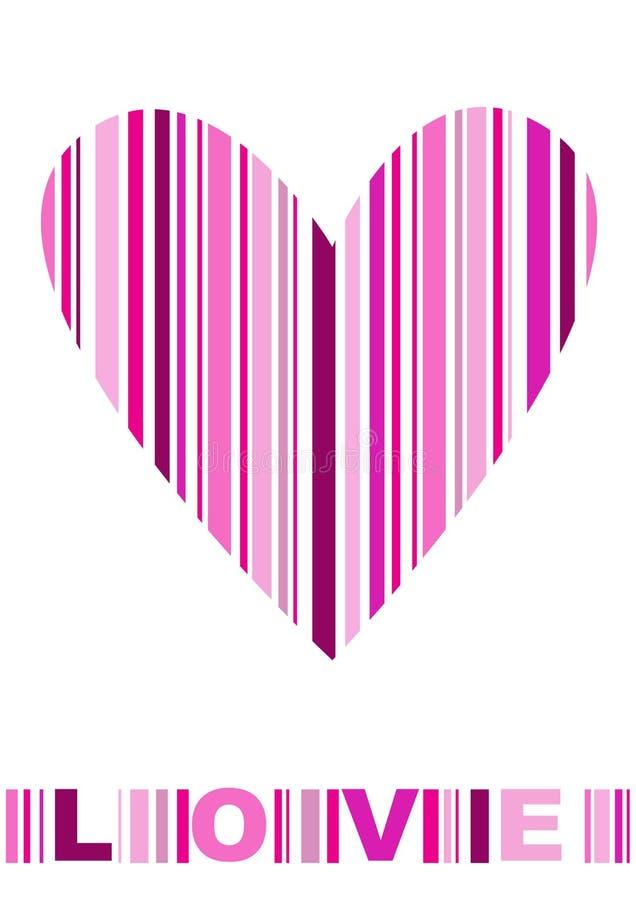 Bar code heart icon stock illustration
