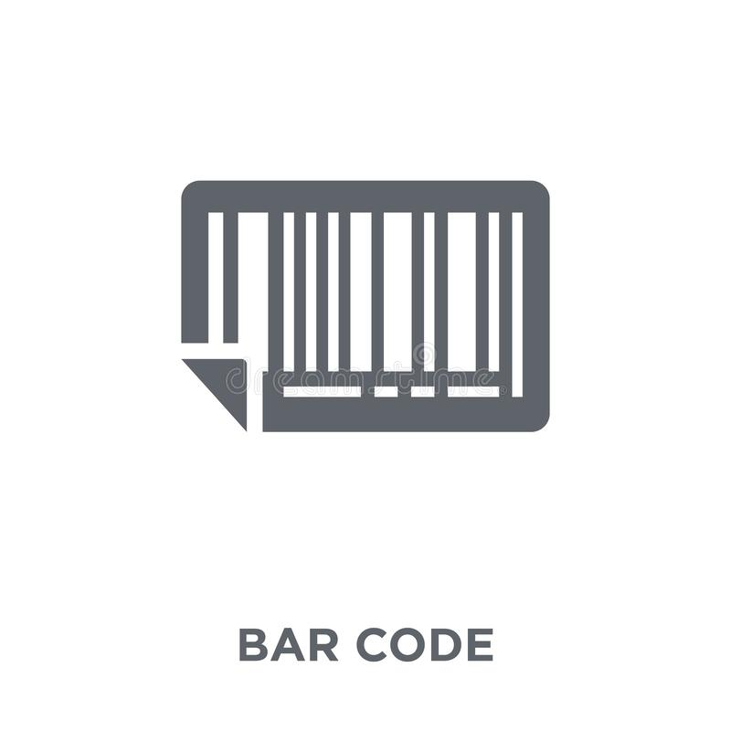 Bar code icon from Delivery and logistic collection. vector illustration