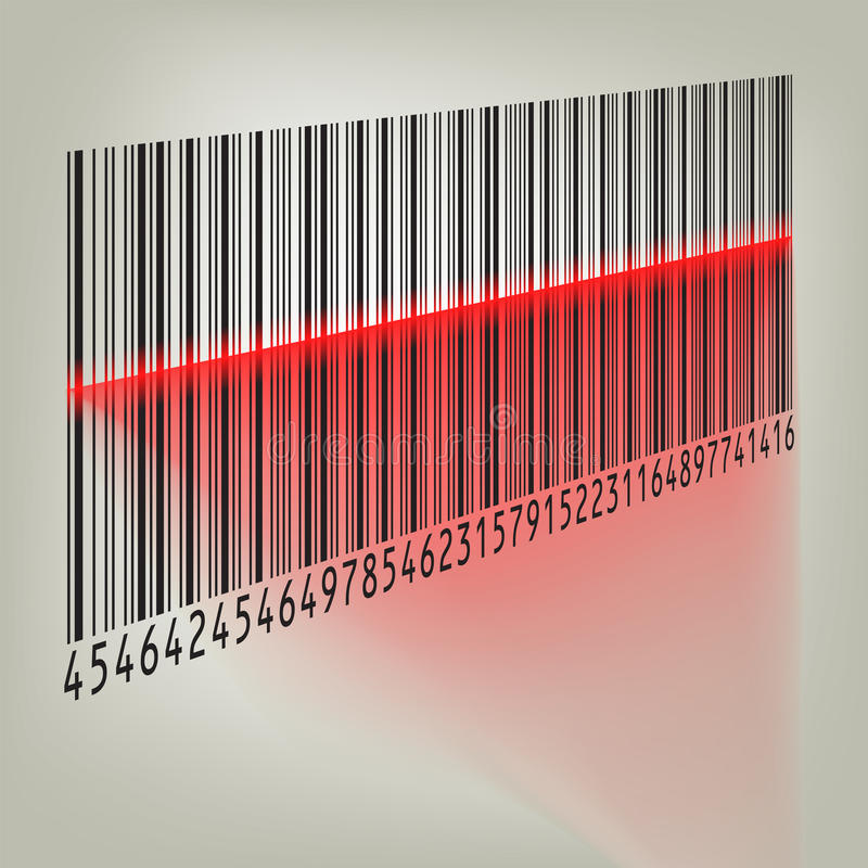 Bar Code With Laser Light. EPS 8 Royalty Free Stock Image