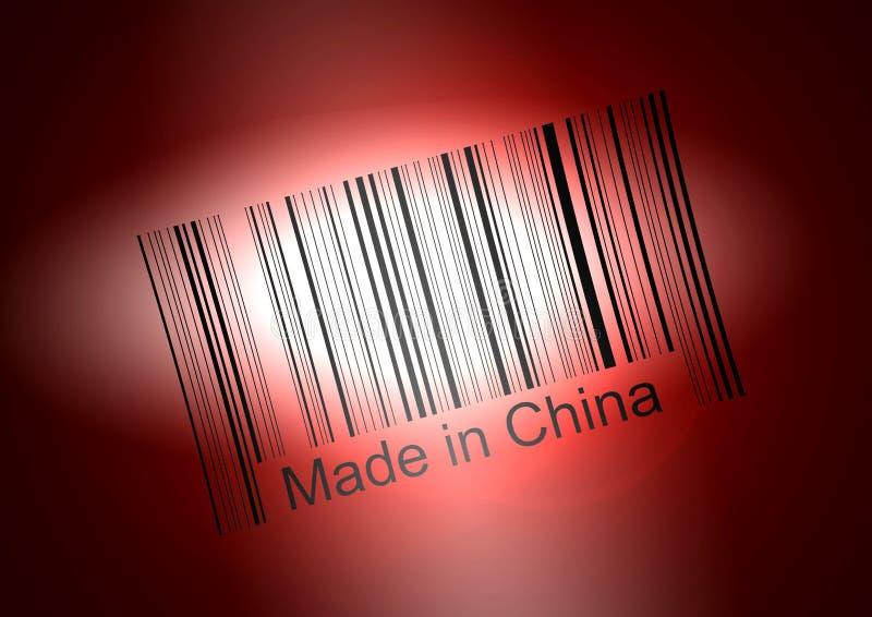 Bar code: Made in China vector illustration
