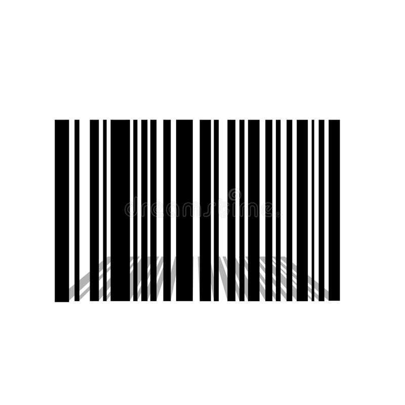 Bar code with a perspective shadow stock illustration