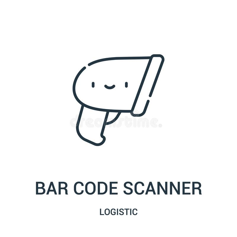 bar code scanner icon vector from logistic collection. Thin line bar code scanner outline icon vector illustration stock illustration