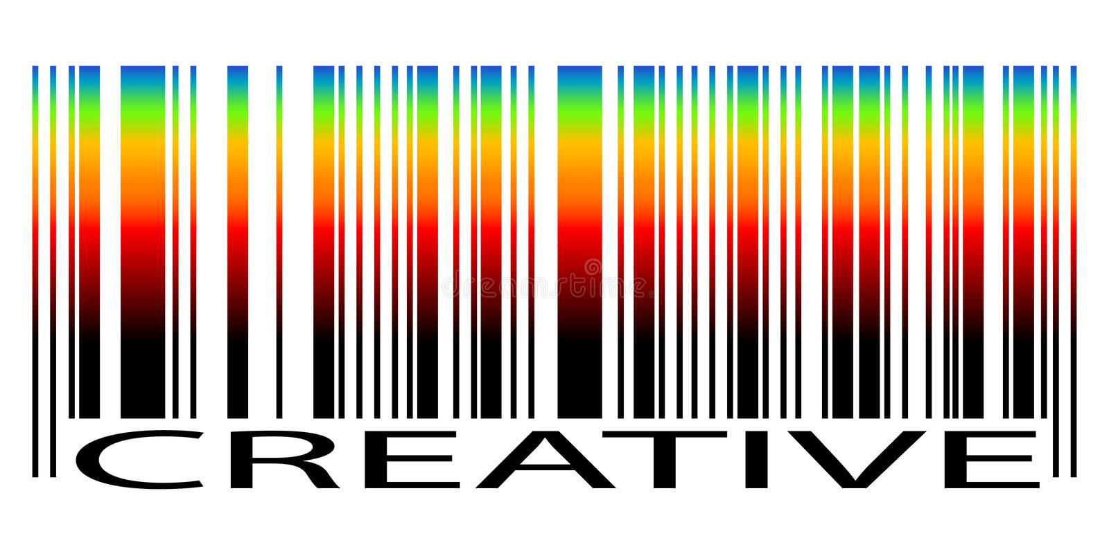 Bar code and text Creative royalty free illustration