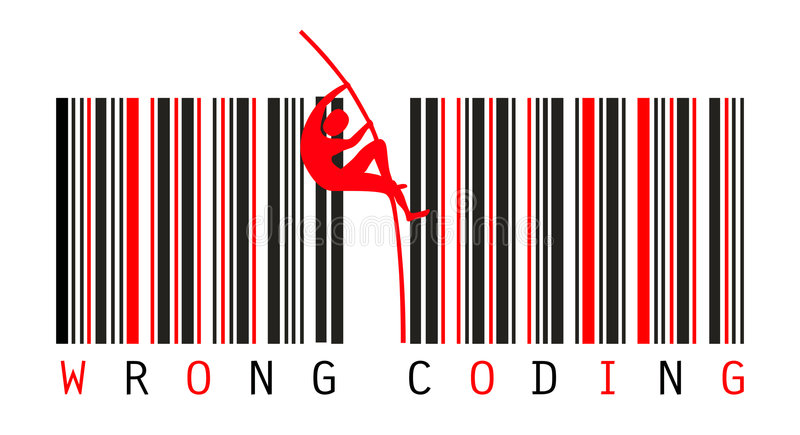 Bar Codes. Error Concept royalty free illustration