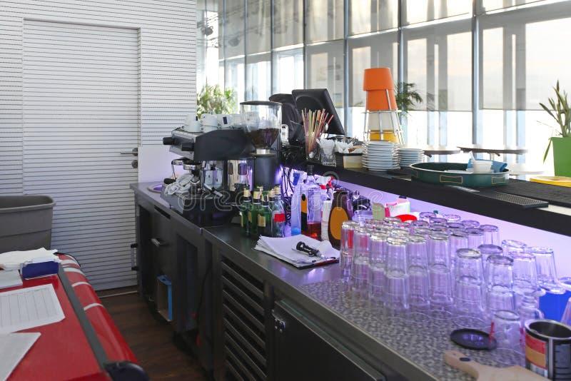 Bar counter stock photo